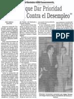 Edgard Romero Nava - Eduardo Fernandez - Hay Que Dar Prioridad a La Lucha Contra El Desempleo 1989