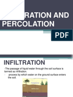 infiltration and percolation