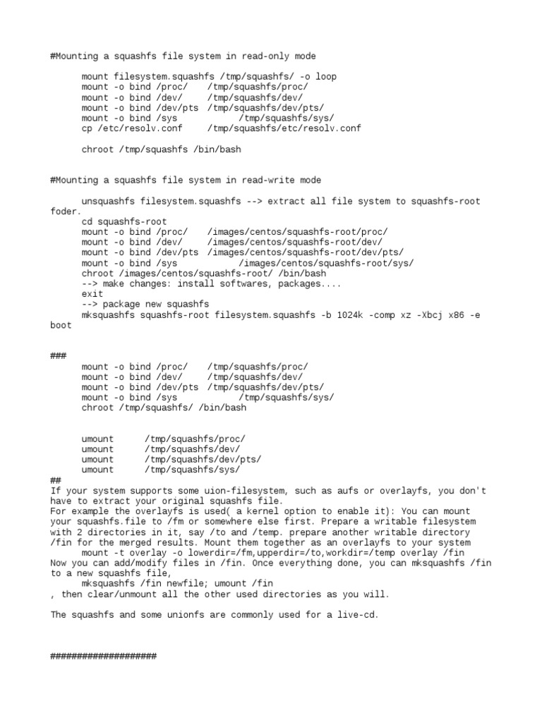 squashrootfs | Computer File | Operating System Families