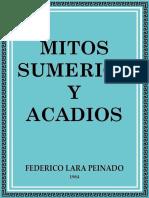 Federico Lara Peinado - Mitos sumerios y acadios