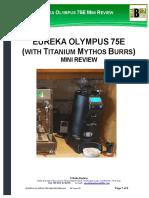 Eureka Olympus 75e Mini Coffee Grinder Review