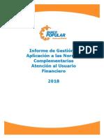 Informe Anual Normativa Usuario Financiero 2018