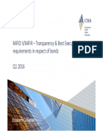 MiFID II and Transparency & Best X Requirements