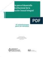 Guia insitucional - 10 Orientaciones Para Las Escuelas en ESI