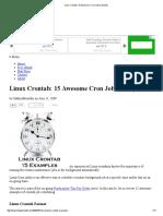 Linux Crontab_ 15 Awesome Cron Job Examples