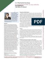 Antidepressants, Mood Stabilizer, Antipsychotics, And the Risk of Cataract