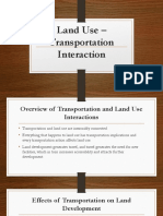 Land Use – Transportation Interaction