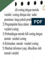 Full Costing Dan Variable Costing