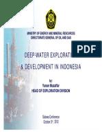 Deep Water Exploration & Development in Indonesia