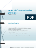 Types of Communicative Strategies