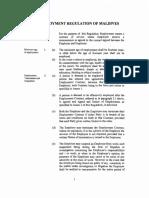 Maldives Employment Regulation