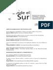Indice Desde el Sur Nº 2, 2010.