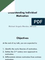 Understanding Individual Motivation