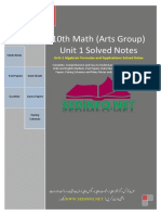 Unit1 10th Math Arts Solved Notes SEDiNFO.net
