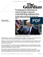 Trump backs abortion in cases of rape or incest, contradicting Alabama law   US news   The Guardian