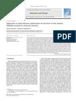 Application of Multi-objective Optimizat
