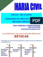 Aula 20-16-10 2018_Estacas Fórmulas Estáticas