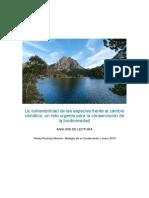 La Vulnerabilidad de Las Especies Frente Al Cambio Climático