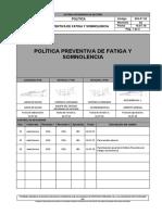 SIG-P°-02 POLITICA PREVENTIVA DE FATIGA Y SOMNOLENCIA Rev 02