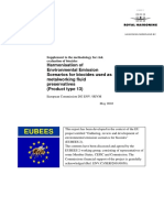 Harmonisation of environmental emission scenarios - metalworking fluid s