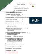 Sales - Checklist