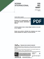 Ensayos de Contaminación Artificial de Aisladores Para Alta Tensión Destinados a Redes de Corrien
