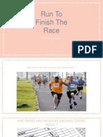 Run To Win The Race Of Faith