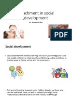 Attachment in Social Development