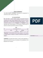 First Draft - Employment Agreement