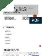 Hydrogen Production Through Biomass Gasification