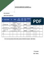Programa de Valvulas Planta 2018