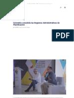 Colombia Consolida Las Regiones Administrativas de Planificación - Región Central