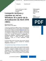 Compartir Archivos y Carpetas en Red en Windows 10 a Partir de La - Microsoft Community