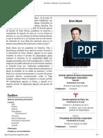 Elon Musk - Wikipedia, La Enciclopedia Libre