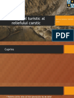 potentialul turistic al reliefului carstic
