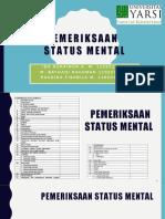 Status mental Stase Jiwa Universitas YARSI