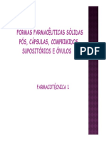 Aula 12 Formas Farmacc3aauticas Sc3b3lidas Pc3b3s Cc3a1psulas e Comprimidos