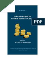 AP 08_EV 04 - Dialogo en Ingles - Informe de Presupuesto