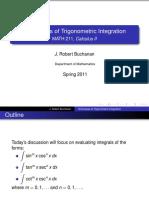 Techniques of Trigonometric Integration