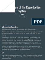 A HY Review of the Reproductive System
