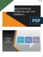g3 Requisitos de Apertura de Una Empresa