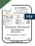 EXAM MENSUAL ABRIL ARI + RAZ MAT +TRI  -  4° PRIMARIA AZUL 2019.docx