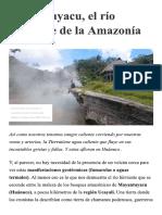 Mayantuyacu, El Río Hirviente de La Amazonía