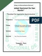 Reducción de La Acidez Del Biodiesel Enzimático Utilizando Lavado Alcalino - 2018
