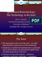 Agricultural Biotechnology -- Technology in the Seed