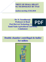 Development of Small Millet Processing Technology by TNAU Dr Varadharaju