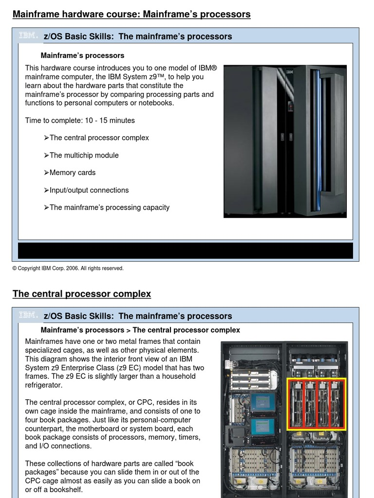 zcourses_MFHWprocessors | Mainframe Computer | Central Processing Unit