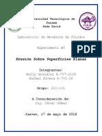 Laboratorio #3-Presión Sobre Superficies Planas.docx