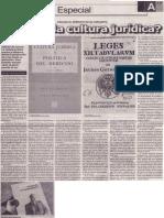 ¿Qué es la cultura jurídica, Mario Rommel Arce Espinoza