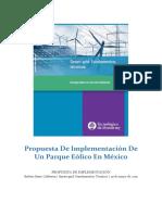 Propuesta de Implementación - Parque Eólico en México